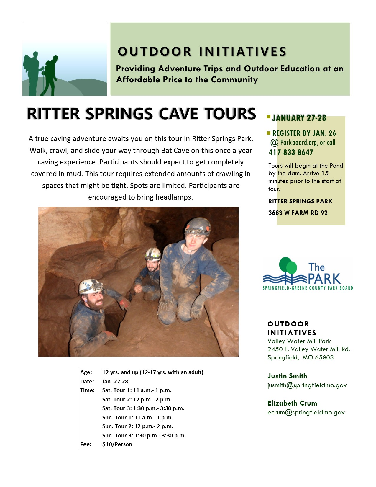 Ritter Springs Cave Tours