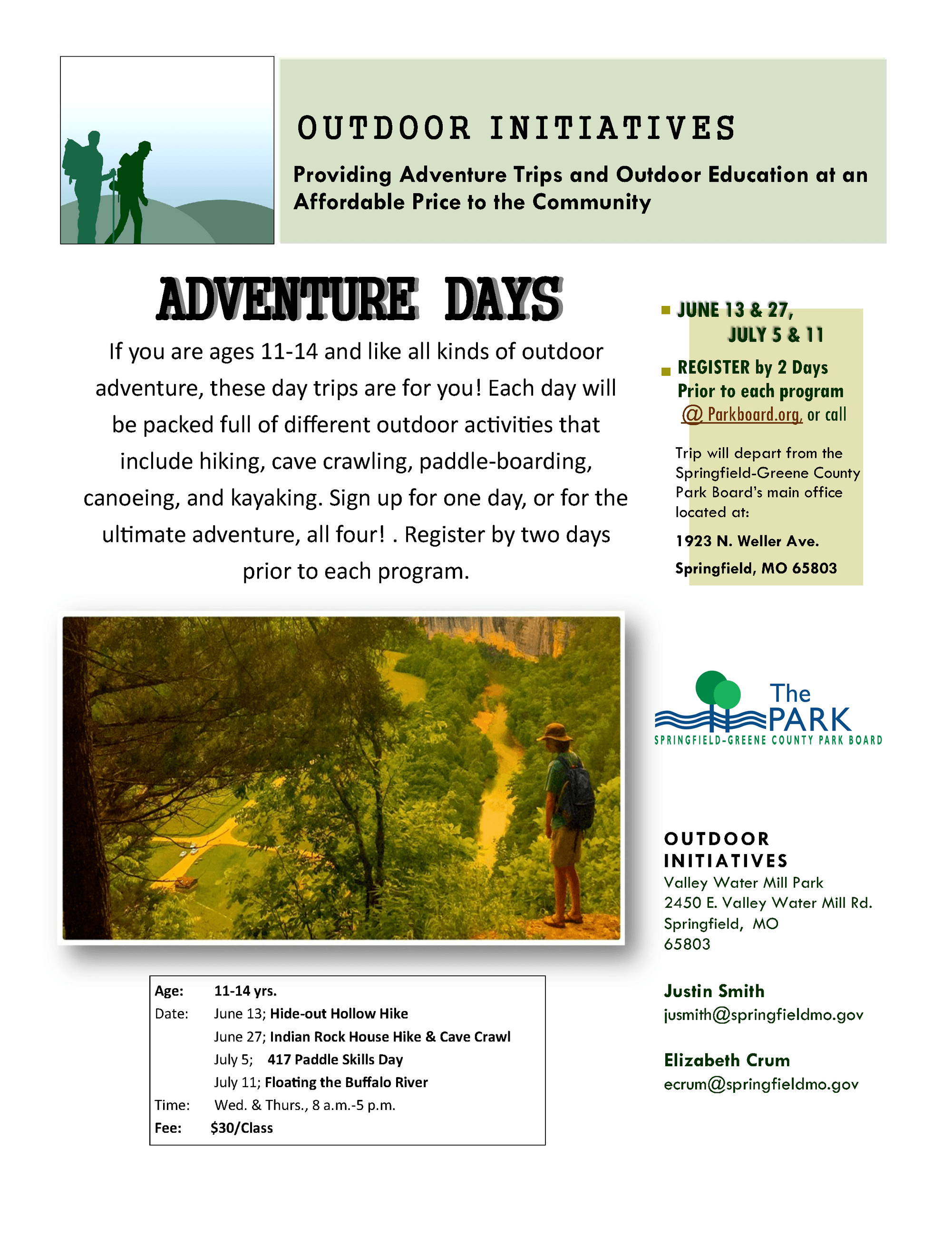 Adventure Days Flyer18