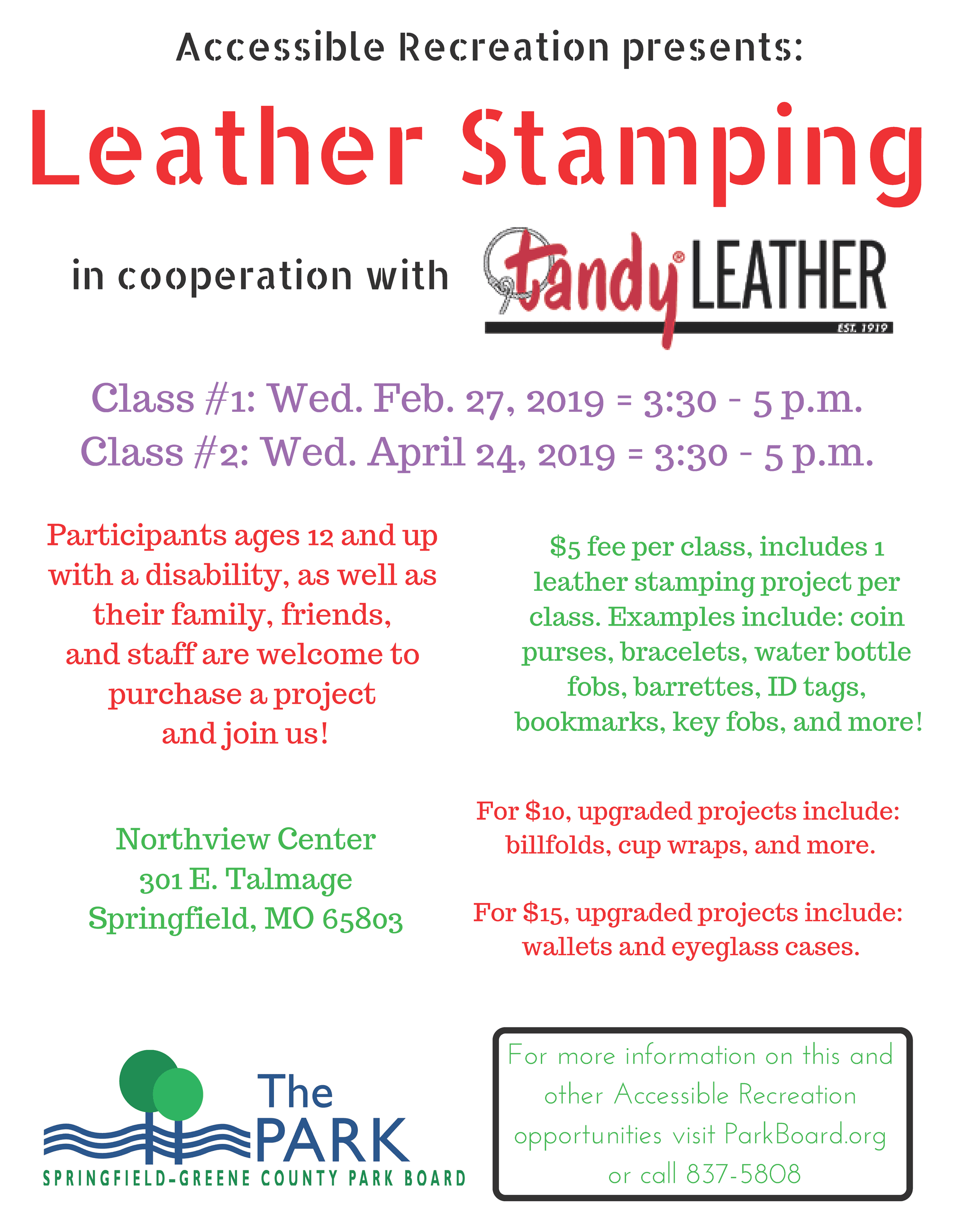 Tandy Leather Feb and April 2019 - img