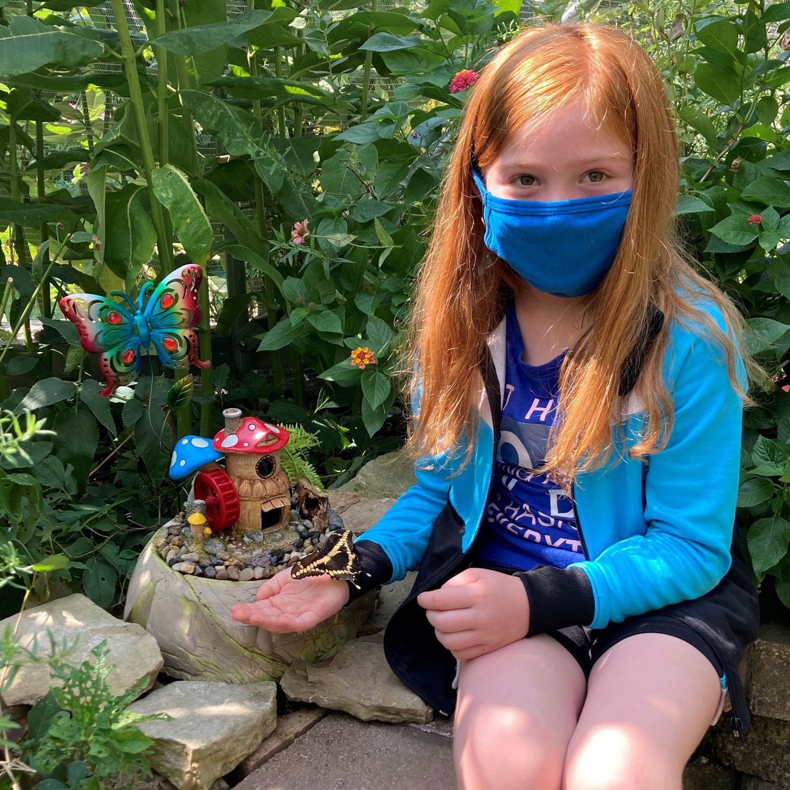 Alaynna, age 8, in the Butterfly House Aug 23, 2020